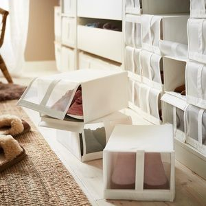 IKEA SKUBB Shoe Box Storage Organizer Bin, White